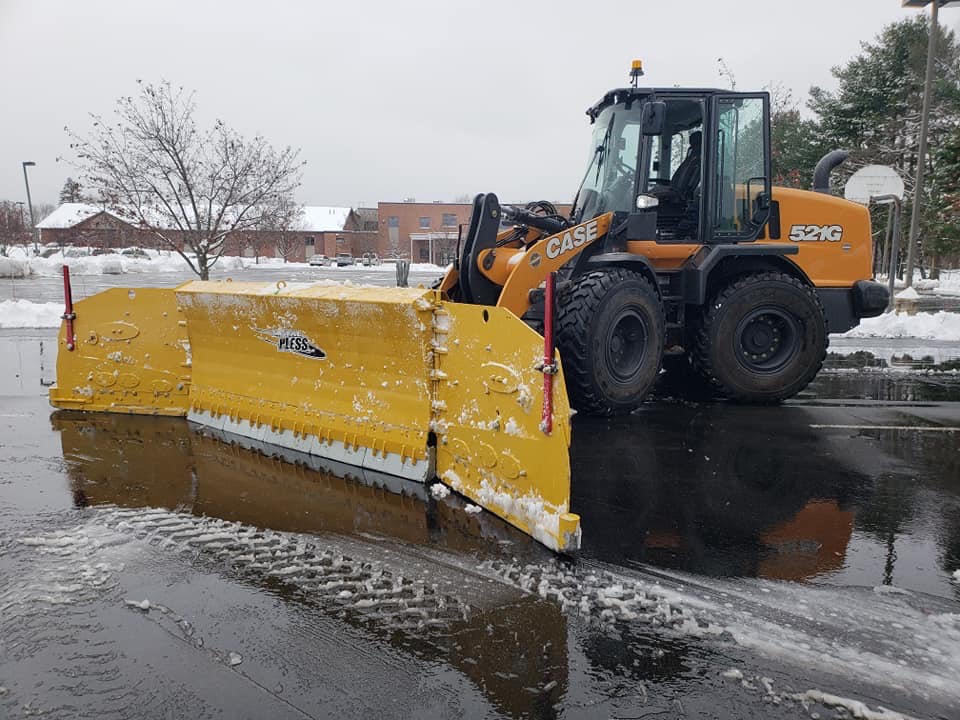 commercial snow plowing nh