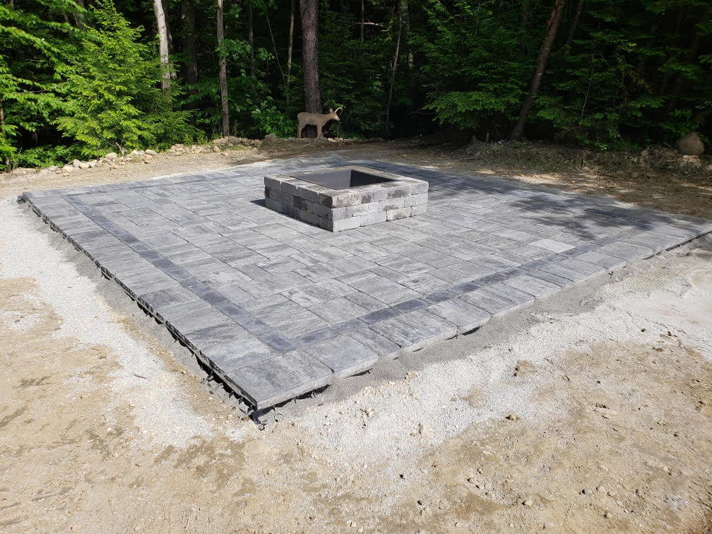 Square fire pit in NH